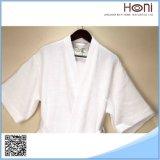 Peignoir blanc pur d'hommes de gaufre du confort D-023