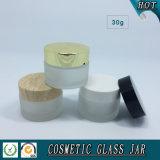choc de crème en verre 30ml givré avec les chapeaux en plastique en bois