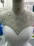 Aoliweiya подгоняет Bridal платья венчания с отбортовывать Neckline