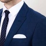 Giacca sportiva blu del vestito di affari degli uomini dell'OEM di modo di colore