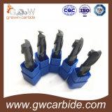 Fraise en bout de carbure de tungstène de matière première de 100% dans des accessoires de machines-outils