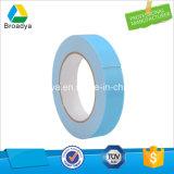 Cinta adhesiva de la película de la espuma lateral doble adhesiva solvente azul del PE