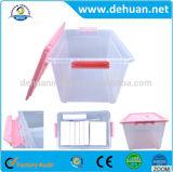Rectángulo de almacenaje plástico de lujo del estaño con el rectángulo de almacenaje con la maneta
