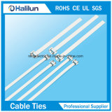 Edelstahl-Polyester-überzogener mehrfachverwendbarer Kabelbinder