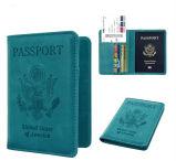 Support en cuir de passeport d'IDENTIFICATION RF, détenteur de carte, couverture de passeport, sac de passeport