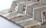 Gris de agua dulce del mosaico del shell y del mármol