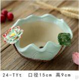 Crisol de flor de cerámica popular del jardín del OEM para Deco casero