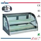 Витрина шкафа подогревателя встречной верхней части стеклянная