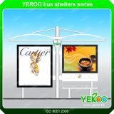 Mobiliário de rua Publicidade de alta qualidade em aço inoxidável para parada de ônibus