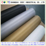 3D /4D/5D Schwarz-und Farben-Kohlenstoff-Faser-Vinyl