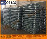 Jaula de la paleta del acoplamiento de alambre de acero para el almacenaje del almacén