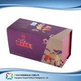 Contenitore di regalo impaccante di legno su ordinazione del documento del cartone dei monili/vigilanza/anello (XC-1-015)