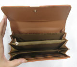 Плоская повелительница Бумажник Gusset Муфта PU с карманн застежки -молнии устроителя карточки