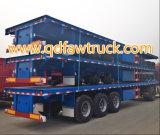 тележка контейнера 40FT планшетная, Semi трейлер, semi flatbed трейлера