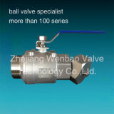 Mann Female Threaded Ball Valve zum Edelstahl 316 Male Threaded Female Ball Valve