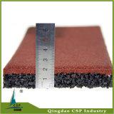 Rote Farben-Gummifliese für Park-Boden