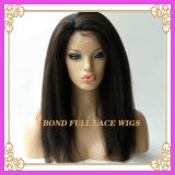 Парик фронта шнурка Glueless волос девственницы бразильский/вполне шнурует парик
