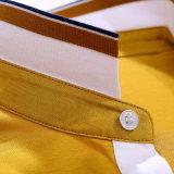 Usine de chemise de polo de plaine de collet de côte de coton du polyester 35% de 65%