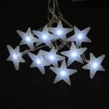 Luz modificada para requisitos particulares colgante blanco de la batería de la estrella de la luz de la batería de la estrella del LED