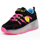Фабрика названного тавра способа обувает кек для малышей, ботинок для взрослых, ботинок конька ролика людей ролика спорта с Retractable колесами