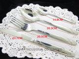 Jeu réglé de couverts de couteau de fourche de vaisselle en acier de cuillère