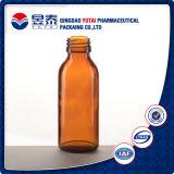 De mondelinge Vloeibare Fles van het Glas van de Stroop Farmaceutische Medische Ronde Amber