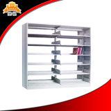 Double côté six couches d'étagère en acier de bibliothèque