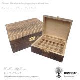 Hongdao Vintage vino de madera Caja de regalo para la botella de vino Almacenamiento Caja de embalaje Madera _E