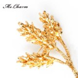 Brooches grandes do centímetro cúbico do trigo para a jóia do Brooch da forma dos vestidos das mulheres