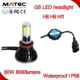 고성능 유일한 색깔 H7 LED 헤드라이트