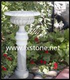 새겨진 사암 정원 화분