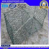 PVC上塗を施してある六角形のGabionボックスとの(セリウムおよびSGS)