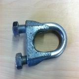 Nous type clip malléable de câble métallique pour la contrainte de boucle de corde