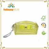Wasserdichtes Clear Vinyl PVC Cosmetic Bag Storage Bag mit Strip Printing