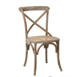 Wood naturale Cross Back Chair per Wedding