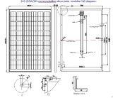 module monocristallin de picovolte de panneau solaire de 30V 36V 245W 250W 255W 260W avec l'OIN de TUV approuvée