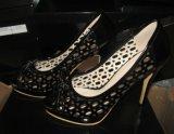Ботинки платья высокой пятки пальца ноги щели способа (HCY02-1487)