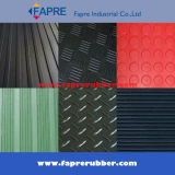 넓은 Fine Ribbed 또는 Checker Pattern/Coin Pattern (Round Stud) /Corrugated/Diamond Thread Pattern Rubber Mat Sheet Roll Floor (Workshop와 Car)
