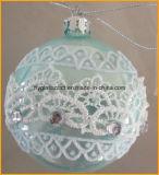 Blaue Farben-hängende Weihnachtsglas-Dekorationen