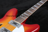 Guitare électrique de chaînes de caractères Sunburst de Rick 12 de cerise