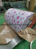 Bobina de aço galvanizada Pre-Painted com exportação baixa vermelha da flor vermelha a Coreia