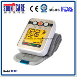 Grand moniteur de pression sanguine de poignet d'affichage à cristaux liquides avec la garantie de deux ans (BP601)