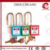 Xenoyの安全鋼鉄手錠が付いている赤いABSパッドロック、38mm