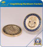 Moneta dura antica su ordinazione di sfida dello smalto dell'oro 3D