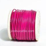 Fio flexível de alta temperatura do PVC rv do núcleo de cobre