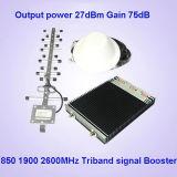 Amplificatori cellulari del segnale della tri fascia di CDMA850 PCS1900 4G2600MHz