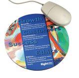 Runde Form passte Firmenzeichen gedruckten Computer Mousepad an