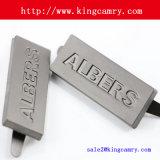 Il metallo su ordinazione contrassegna i contrassegni del pattino del metallo dei contrassegni dei vestiti