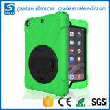 広州の緑色のブラケットが付いているiPadの空気9.7inchのためのハイブリッドタブレットの箱カバー