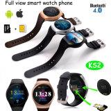 Téléphone intelligent de montre de plein écran rond avec la fente de carte SIM (KS2)